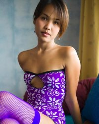 Pick me up nn  lily koh flashes white cotton panties under a purple dress. Lily Koh flashes white cotton panties under a purple dress